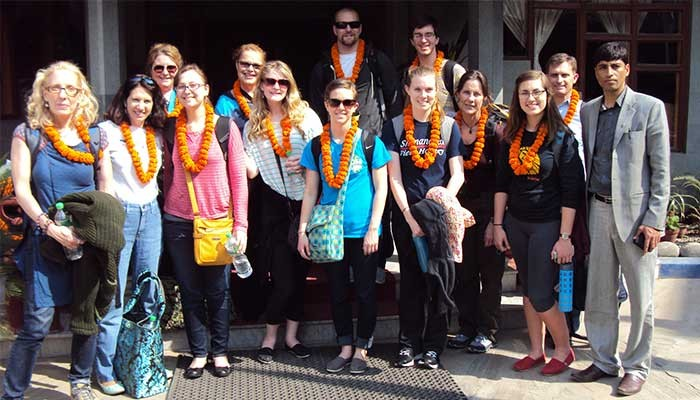 Shenandoah University Group for Education Tour in Nepal