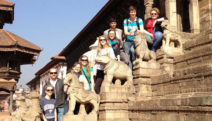 Photo session at Bhaktapur Durbar Square